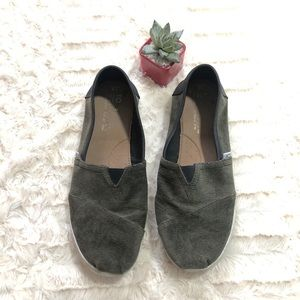 Toms Corduroy Olive Green Sneakers